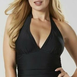 JACLYN SMITH Women's Black 1 Piece Swimsuit Size 8